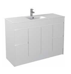 Gloss White Floorstanding Basin 1200mm - Icladd Solid PVC Furniture