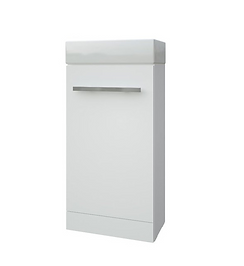 Purity Cloakroom Unit and Basin - White