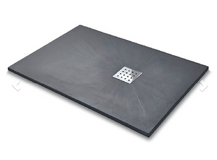 Slate Effect Shower Trays Rectangle Trays - 1200x800mm Graphite