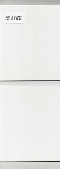 White Gloss Double Plain - Icladd