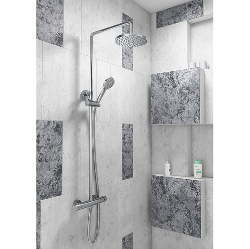 Deana Round Style Thermostatic Shower Kit
