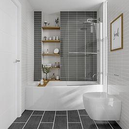 Space Saver Bath End Panel 700x510H
