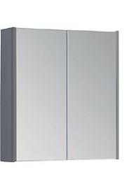 Options 600mm Mirror Cabinet - Basalt Grey
