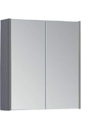 Options 600mm Mirror Cabinet - Basalt Grey