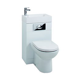 Gloss White WC Unit with D-Shaped Pan & Seat