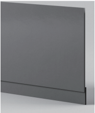 Dark Grey End Panel - Icladd Solid PVC Furniture