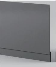 Dark Grey Front Panel - Icladd Solid PVC Furniture