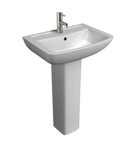Genoa 550mm 1th Basin and Pedestal