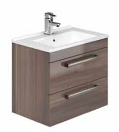 2 Drawer Wall Hung Vanity Unit & Basin 800 x 390mm