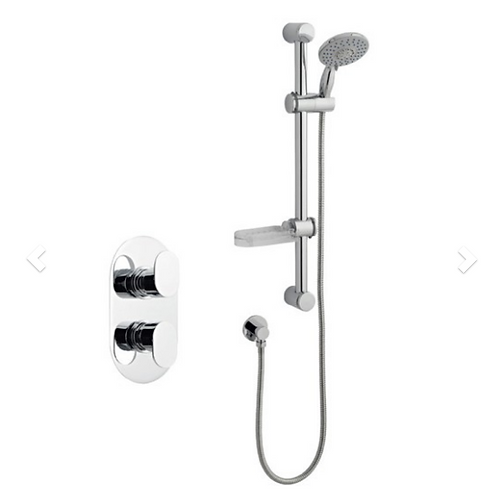 Logik Shower Option 1 Thermostatic Concealed Shower with Adjustable Slide Rail K