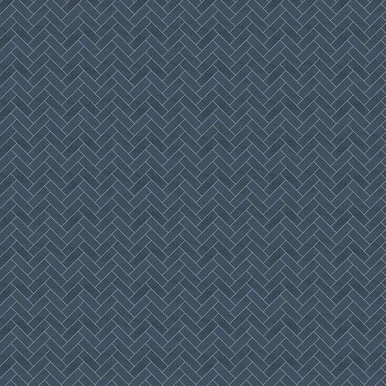 Showerwall Cladding - Navy Herringbone