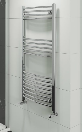 HAYLE CURVED TOWEL RADIATORS 1000X500MM