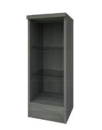 Purity 300mm Open Glass Shelf Unit - Grey Ash