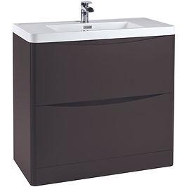 Bella 900 Floor Cabinet Wolf Grey With Basin