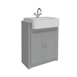 Classica 660 Vanity Unit Stone Grey with Basin