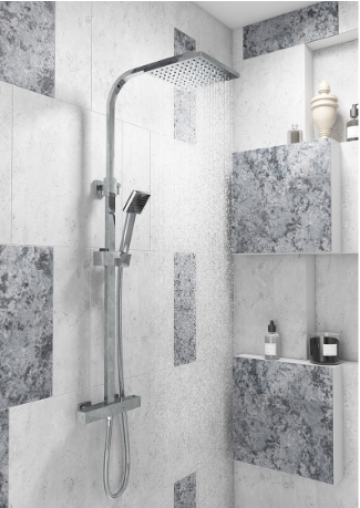 Elite Square Thermostatic Shower Set