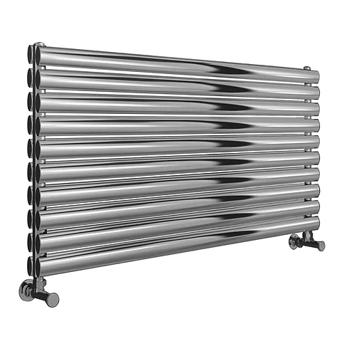 ARTENA 590 x 400 POLISHED DBL STAINLESS STEEL RAD