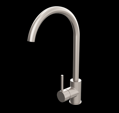 Swan Neck Mono Kitchen Sink Mixer Tap