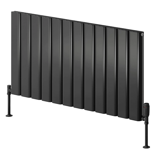 VICARI ALUMINIUM RADIATOR - 600 X 1400 SINGLE ANTHRACITE