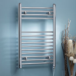 Straight Electric Towel Rail - On/Off 800 x 500