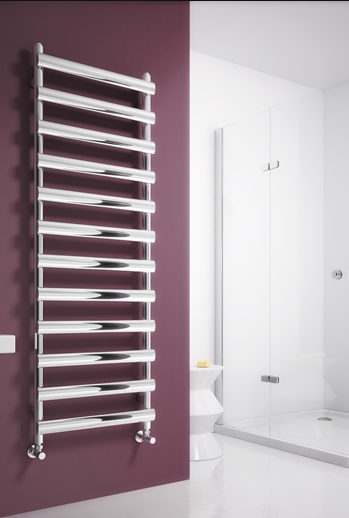 DENO 500x992 BRUSHED STAINLESS STEEL TOWEL RAIL
