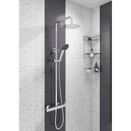 Luna White Thermostatic Shower Panel