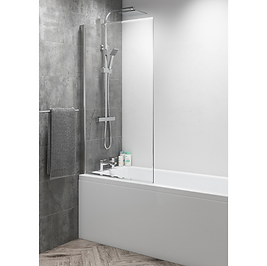 Square Top Easy Clean 8mm Bath Screen