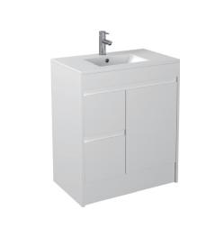 Gloss White Floorstanding Basin 750mm - Icladd Solid PVC Furniture