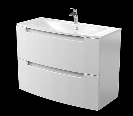 Henley Gloss White 1000 Wall Mounted Cabinet