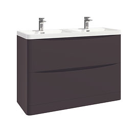 Bella 1200 Floor Cabinet Wolf Grey With Basin