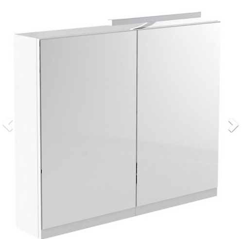 Ikon 800mm Mirror Cabinet with Light & Shaver Socket - White