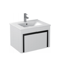 Gloss White Wall Mounted Basin 600mm - Icladd Solid PVC Furniture