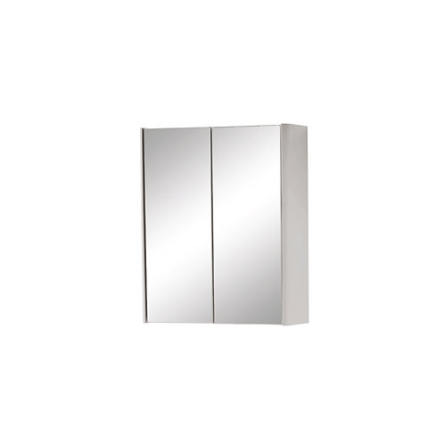 Cayo 800mm Mirror Cabinet - Grey