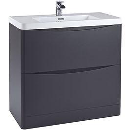 Bella 900 Floor Cabinet Matt Grey With Basin