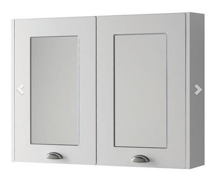 Astley 800mm Mirror Cabinet - Matt White
