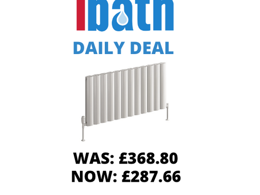 DEAL OF THE DAY: BELVA ALUMINIUM RADIATOR - 600 X 828 DOUBLE WHITE