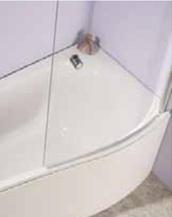Capital Pia Compact Bath Screen L/H