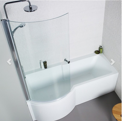 Adapt P-Shaped Shower Bath