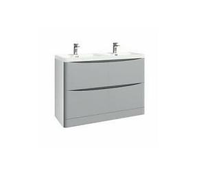 Bella 1200 Floor Cabinet Pebble Grey With Basin