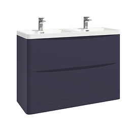 Bella 1200 Floor Cabinet Indigo Blue With Basin