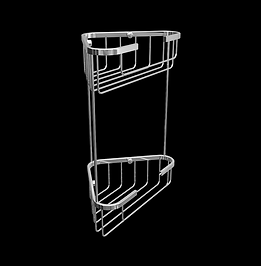 Double Corner Tall Wire Soap Caddy