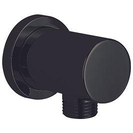 Round Matte Black Outlet Elbow