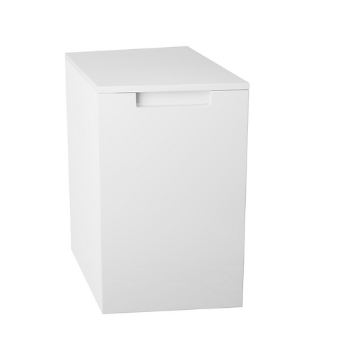Henley Gloss White Handed Side Cabinets - Left Hand