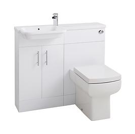 Ria Combi Left Hand Basin & WC Unit