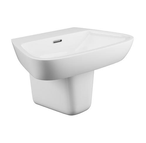Dearne Single Tap Basin with Semi-Pedestal