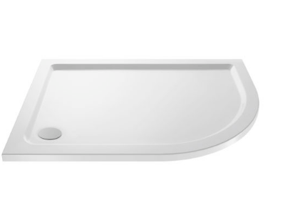 OFFSET RIGHT QUADRANT STONE RESIN SHOWER TRAY 1200X800MM