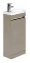 1 Door Cloakroom Basin Unit Savana Ridge & Basin