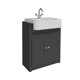 Classica 660 Vanity Unit Charcoal Grey with Basin