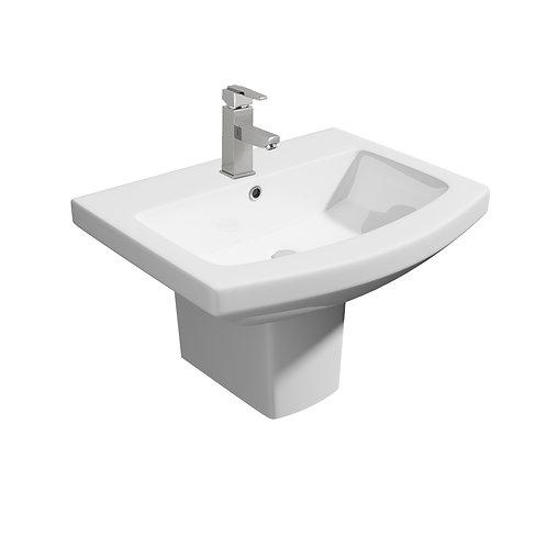 Trim 550mm 1th Basin & Semi-Pedestal