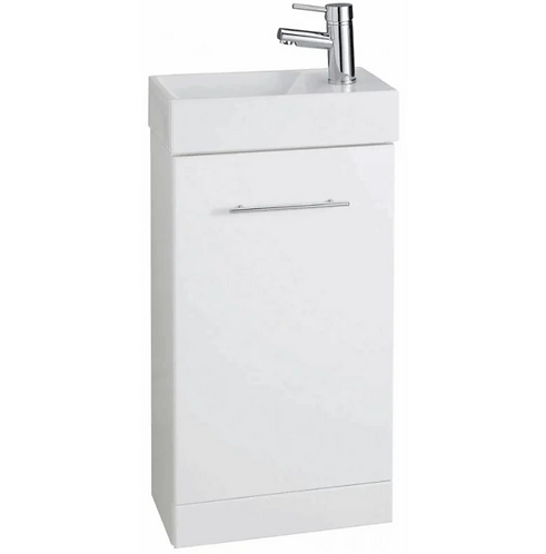 Encore Cube Cloakroom Unit with Basin